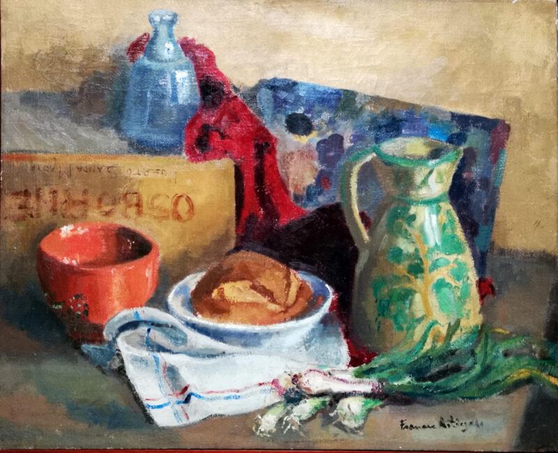 Bodego oli sobre tela 1958
